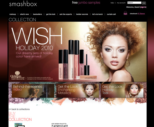 smashbox wish holiday 2010