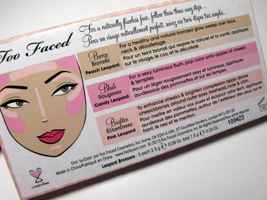 too faced leopard love palette review back