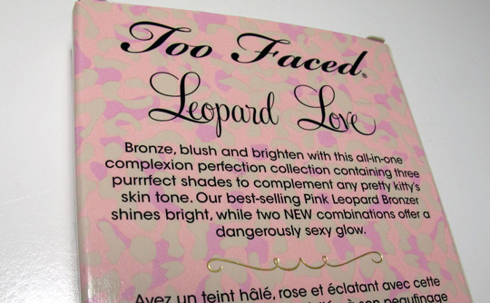 too faced leopard love palette review box
