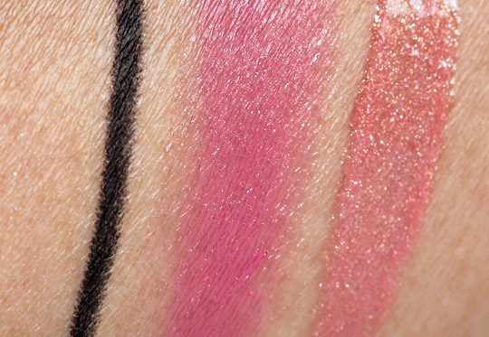 bobbi brown choose your glam smokey eye palette swatches review fotd swatches on nc35 skin 3