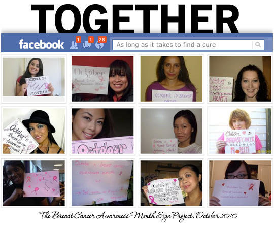 The Breast Cancer Awareness Month Sign Project, October 2010