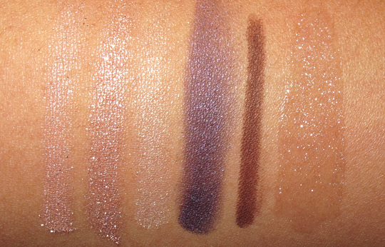 karen of makeup and beauty blog reviews the urban decay cowboy junkie set arm swatches