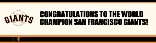 Congrats to the San Francisco Giants!