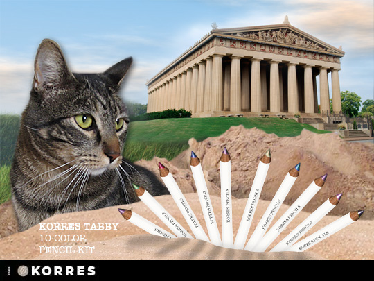 Tabs for KORRES Tabby 10-Color Pencils