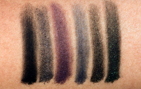 urban decay black palette review swatches photos swatches on arm all