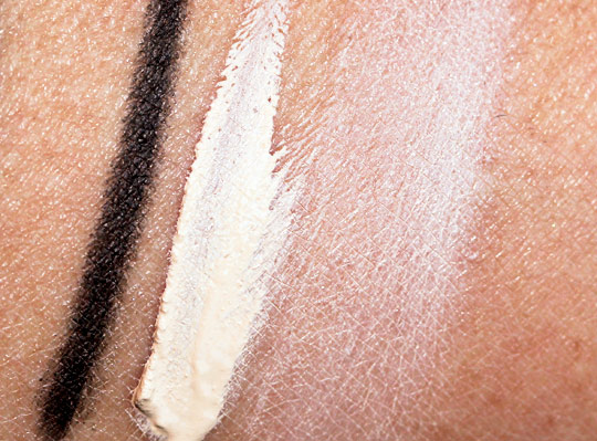urban decay black palette review swatches photos swatches on arm liner primer