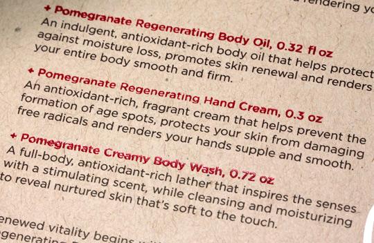 weleda pomegranate regenerating body care kit box