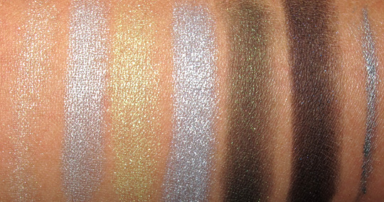 wet n wild color icon eye kit review swatches photos snow sprite swatches on arm