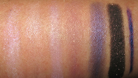wet n wild color icon eye kit review swatches photos sugar plum fairy on arm