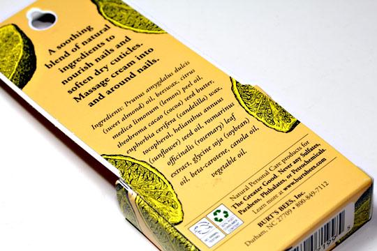 Burt's Bees Lemon Butter Cuticle Cream ingredients