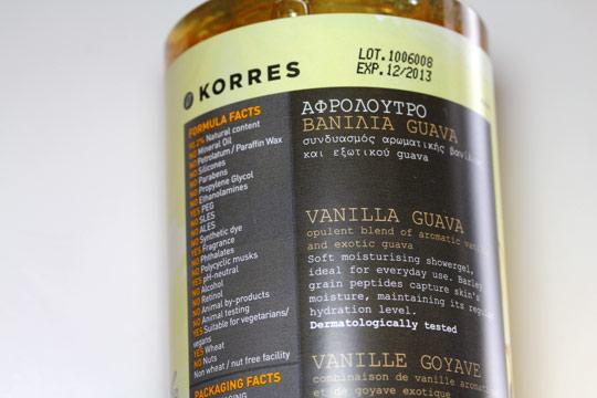 Korres Vanilla Guava Showergel
