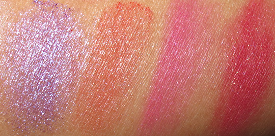 MAC Stylishly Yours swatches pigment