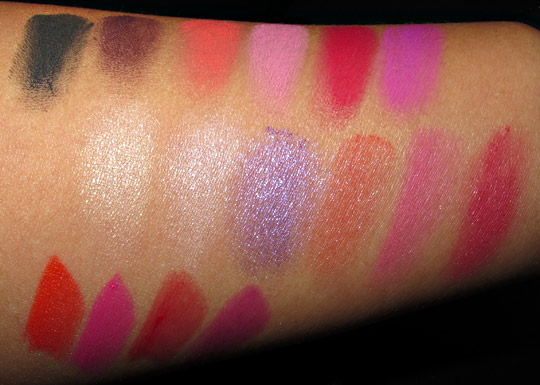 MAC Stylishly Yours swatches