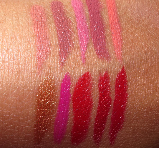 Make Up For Ever Rouge Artist Intense Swatch on back of hand