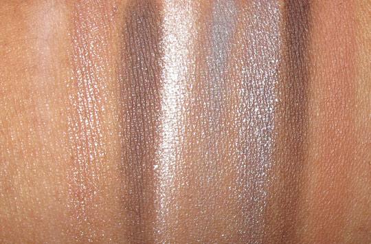 Nyx Soho Glam swatches eyeshadow 1