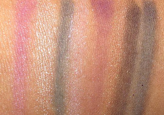 Nyx Soho Glam swatches eyeshadow 4