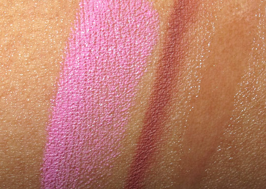 Pink 4 Friday Lipstick by MAC and Nicki Minaj review swatches photos arm swatch on nc35 skin
