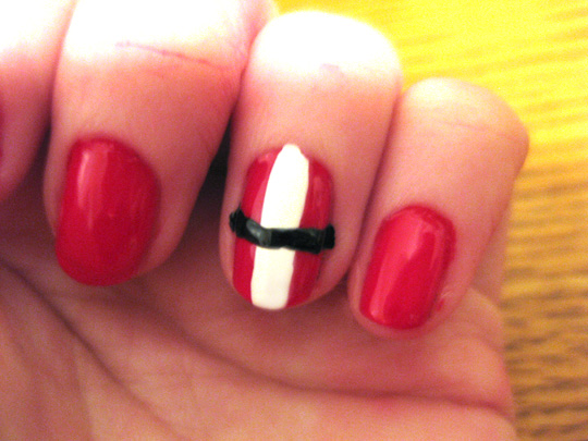 Happy Holiday Nail Art - Step 2