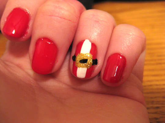 Happy holiday nail art