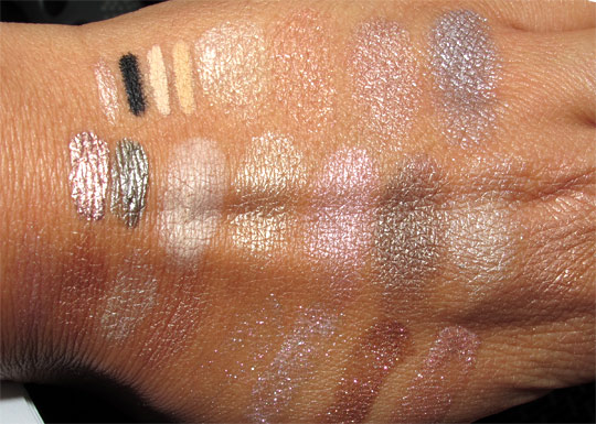 mac champale swatches all