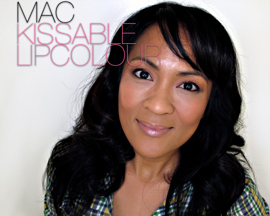 mac kissable lipcolour woo me swatch
