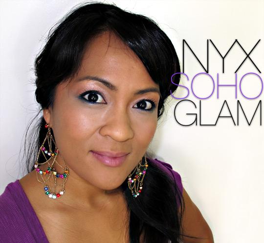 nyx soho glam on karen of makeup and beauty blog