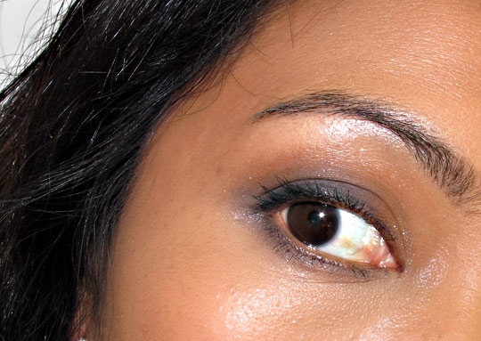sonia kashuk what glitters glows eye palette on karen of makeup and beauty blog eye-closeup