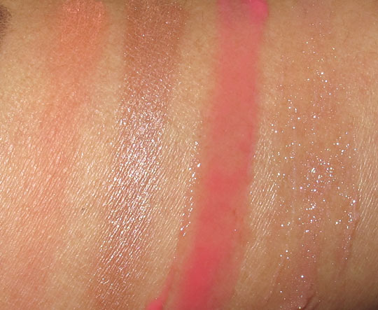 Smashbox Style Files lip cheek swatches