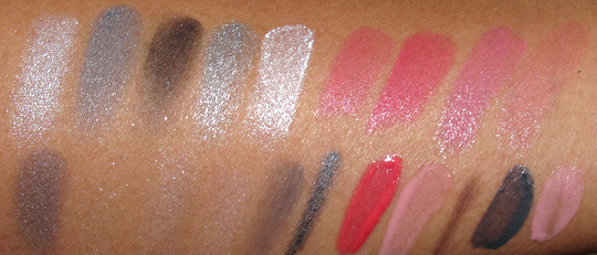 dior montaigne swatches with flash