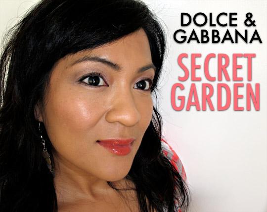 dolce gabbana secret garden collection swatches