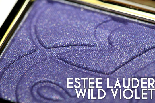 estee lauder untamed violet eyeshadow swatches