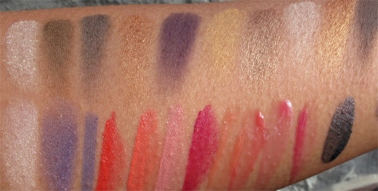 estee lauder wild violet swatches swatches without flash