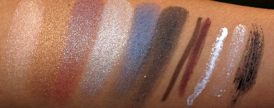 lorac multidimensional beauty collection swatches with flash