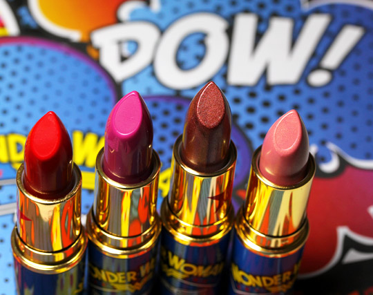 mac wonder woman  Lipsticks all