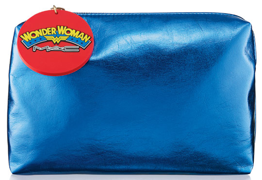 mac wonder woman makeup bag blue