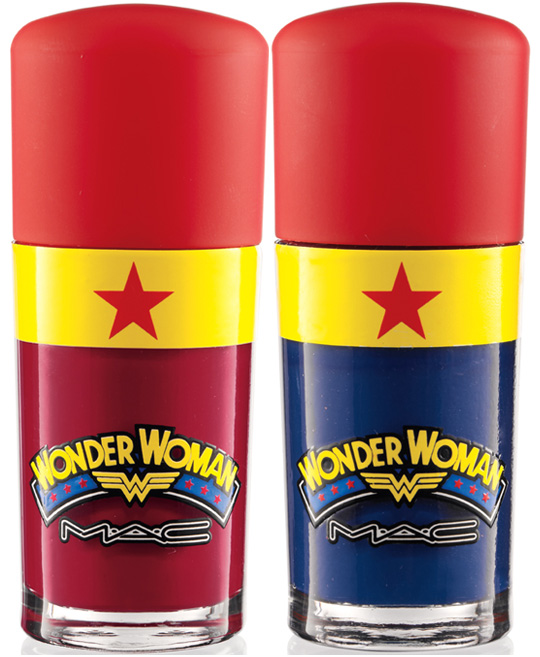 mac wonder woman nail polish