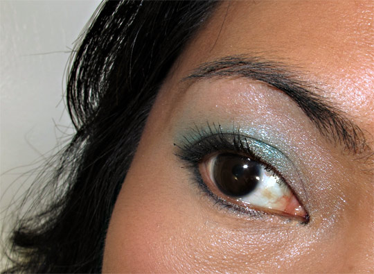 nyx haute model eye closeup