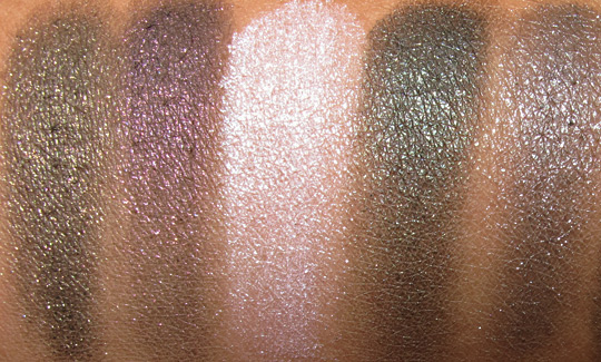 nyx haute model swatches with flash