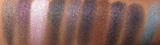 nyx haute model swatches flash all