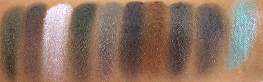 nyx haute model swatches no flash