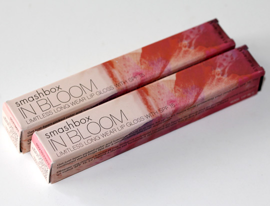 smashbox in bloom limitless long wear lip gloss boxes
