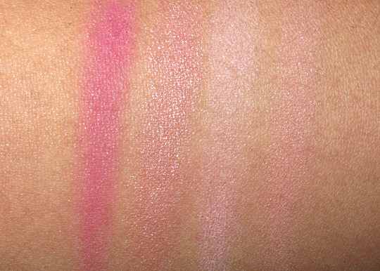 Maybelline Fit Me Blush Review swatches with the flash