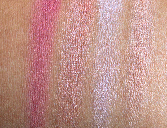 Maybelline Fit Me Blush Review swatches without the flash. With the flash