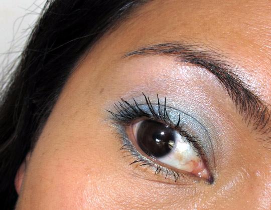 Karen of Makeup and Beauty Blog wearing Rimmel Glam Eyes Trio Eye Shadow in Maritime