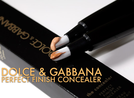 dolce gabbana perfect finish concealer review