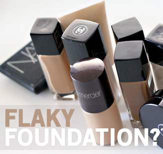 How do you handle flaky foundation?