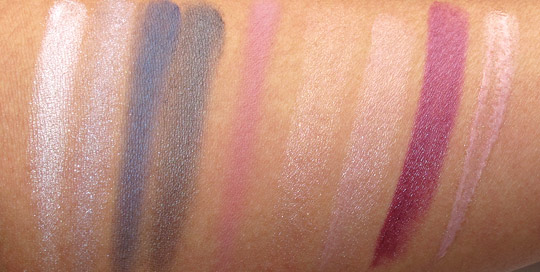 mac jeanius swatches all without flash