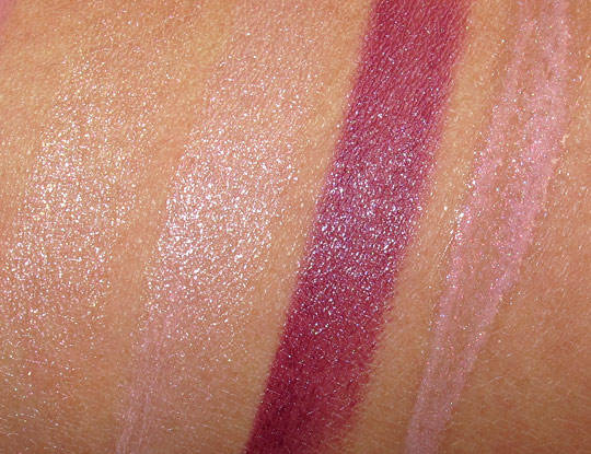 mac jeanius swatches lipsticks lipglasses