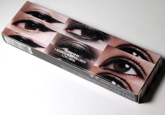 mac packed to go 3 assorted black eye liners