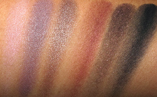 mac packed to go 6 cool smoky eye shadows swatches with the flash